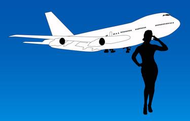 Aerolinea de aviación