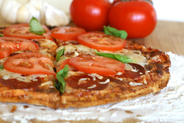 Pizza - Basil and Tomatoes