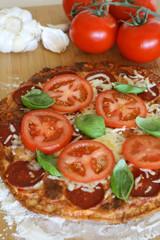 Pizza - Basil & Tomato