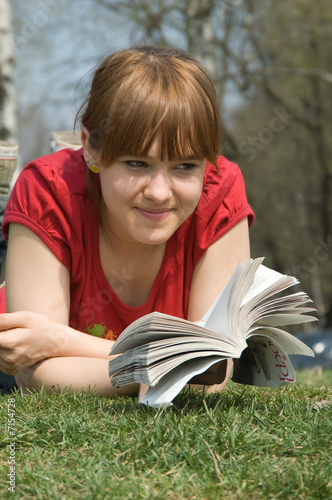 The girl with the book