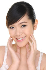 A beautiful asian girl close-up