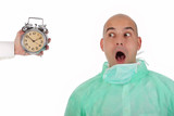 surgeon and clock alarm poster