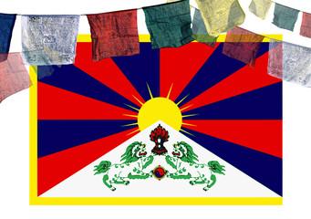 tibet series - tibetan flag