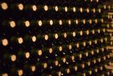 endless stack of wine bottles poster