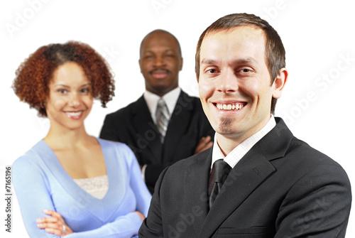Diverse, happy team