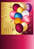 Postal Copula of wonderful balloons. Vector Design. poster