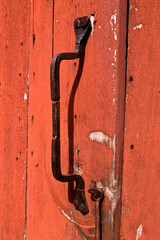 Rustic old door handle