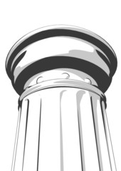3d vector illustration from a part of a white column