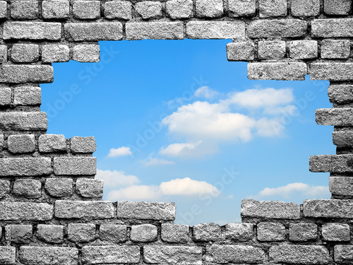 Photo un trou dans le mur vers la libert for Reboucher un trou dans le mur