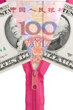 Chinese yuan and us dollars poster