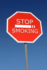 Stop smoking signpost
