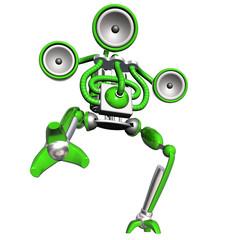 music robot green