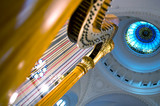 Harp strings close up poster