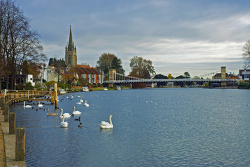 The Bridge and Church at Marlow