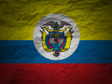 grunge background Colombia flag poster