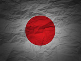 grunge background Japan flag poster