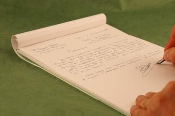 rédiger une lettre manuscrite