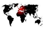 Fototapety Planisphère : L'Europe au centre du monde