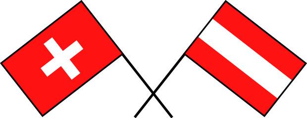 flag suisse et autriche 3
