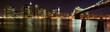 Panorama de Manhattan avec Brooklyn Bridge, New York