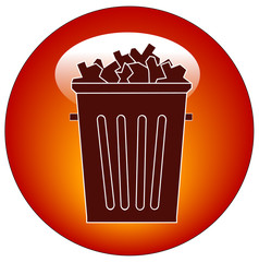 full trash can button or icon