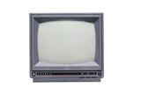 Retro monochrome TV set poster