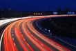 Nachtverkehr auf Autobehn