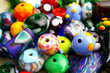 Assorted colorful beads, closeup - 7191961