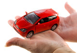 car automobile model in hand poster