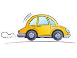 Fototapety Funny cartoon car
