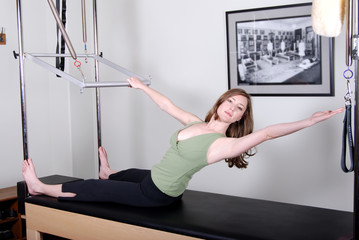 Pilates Workout on Trapeze Table
