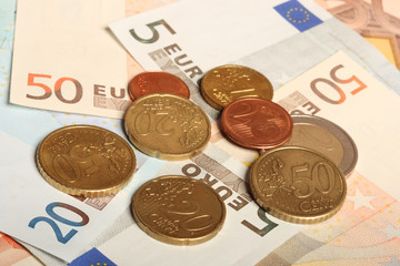 Euro notes and euro coins