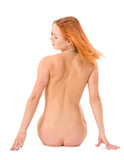 Redhead young naked woman