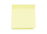 Yellow note pad reminder poster