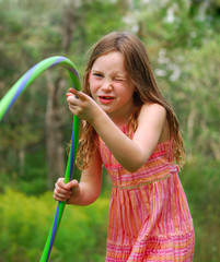 Girl Playing Hula Hoop