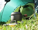 Camping kitchenware poster