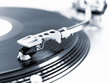 Turntable in motion.
