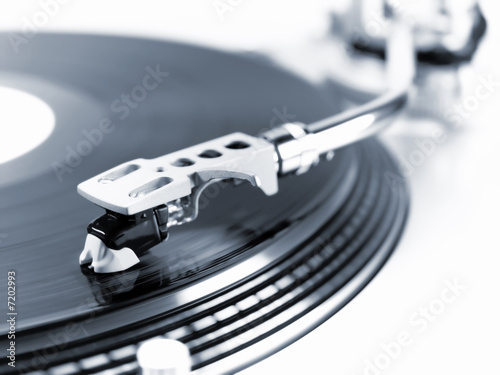 Turntable in motion. - 7202993