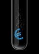 Euro symbol in test tube