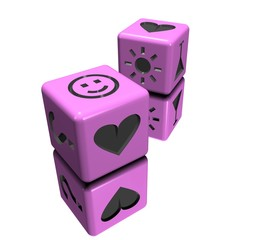 dice pink