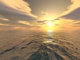 Tramonto sul mare poster