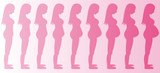 Stages of Pregnancy Girl poster