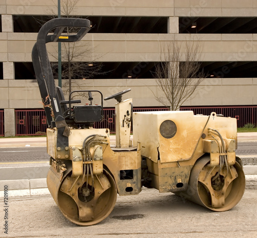 Old Paving Roller by Parking Deck