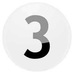 white aqua button number three