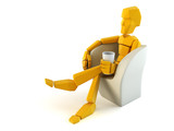 symbolic man relax in easy chair poster
