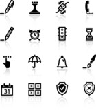 black software icons poster