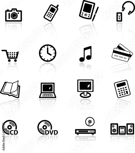 black home electronics icons