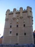 Vista frontal del Alcazar de Segovia poster