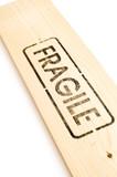 sign on wood fragile poster