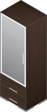 Modern Style Large Wooden Closets with aluminum finish poster